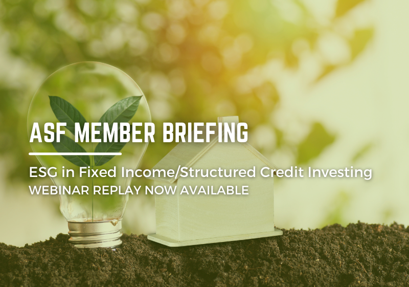 ESG in Fixed Income/Structured Credit Investing